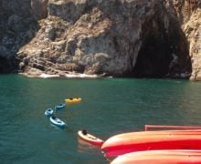 Kayaking at the Channel Islands