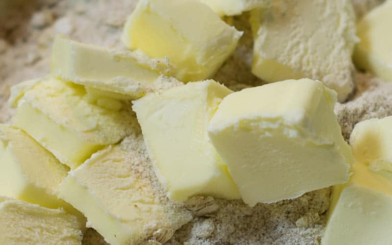 Mixing in the butter