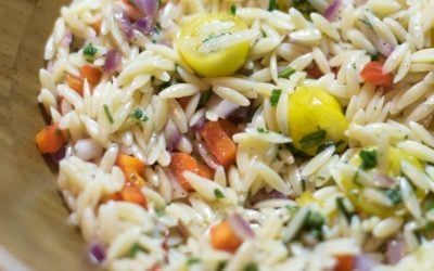Orzo Salad with Tomatoes and Basil
