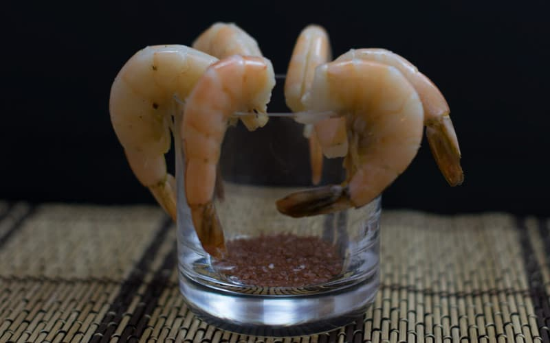 Tender shrimp cocktail
