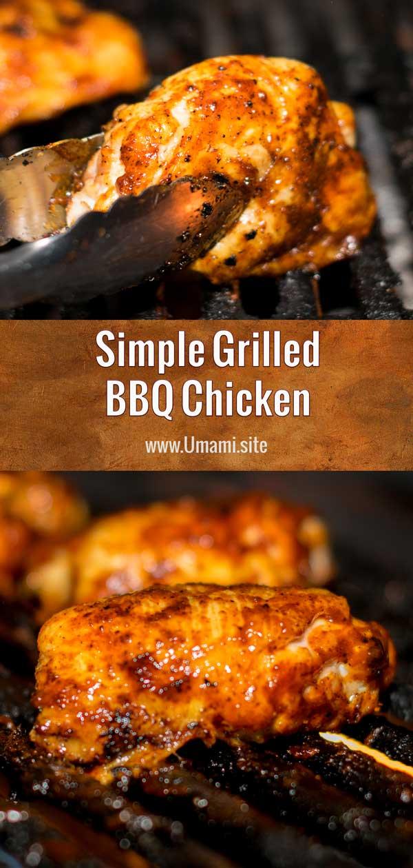 Simple Grilled BBQ Chicken Pinterest