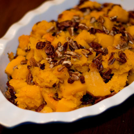 Roasted Butternut Squash With Pecans