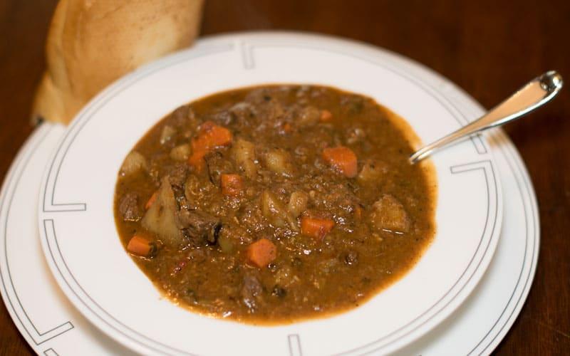 Bowl of delicious buffalo stew