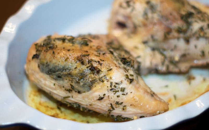 Chicken Roasting In Pan
