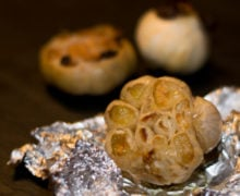 Three versions of roast garlic