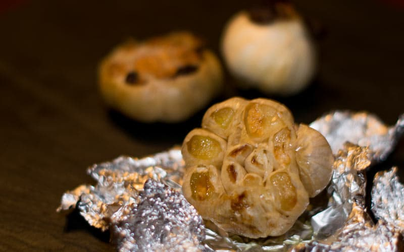 Three versions of roast garlic