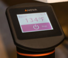 The controls on the Anova One are easy to use