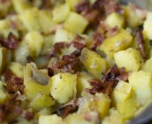 German style potato salad with bacon two ways