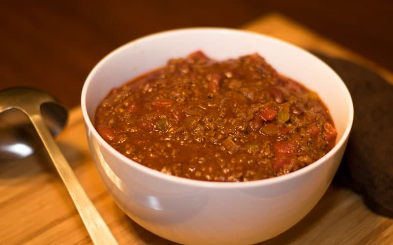 This buffalo chili is hearty and delicious