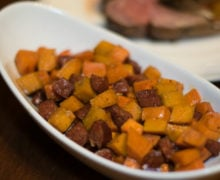 Sweet Potatoes with Andouille Sausage