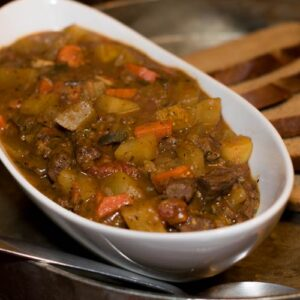 Buffalo Stew with Poblano Peppers