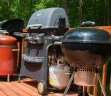Line up of different grill types