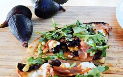 Grilled Fig, Prosciutto, and Goat Cheese Naan Flatbread