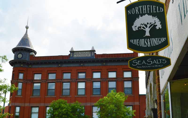 The Morgans' shop is located in historic Northfield along the Cannon River
