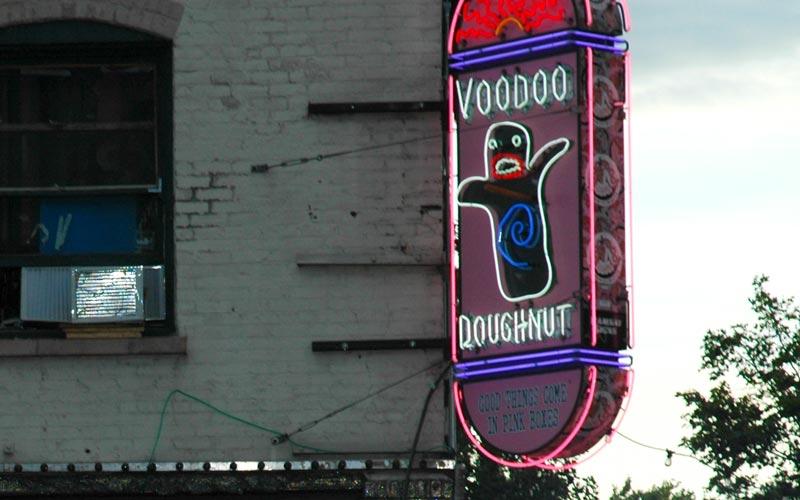 Vodoo Doughnut is a really unique doughnut shop