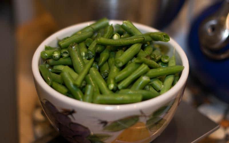 Green Beans Prepped