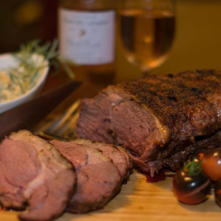 Leg of Lamb Smoked with Olive Wood