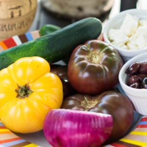 Greek Farmers Salad with Heirloom Tomatoes