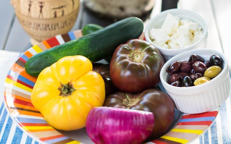 Greek Farmers Salad with Heirloom Tomatoes