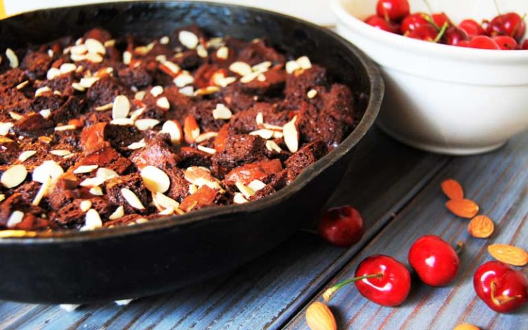 Chocolate Amaretto Bread Pudding