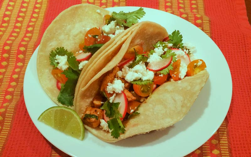 Chicken Tacos with Lime and Cilantro