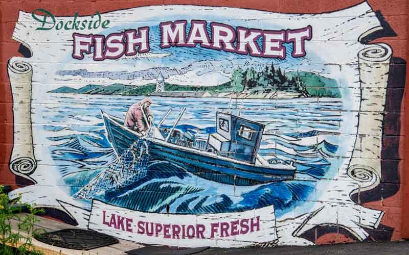 Dockside Fish Market in Grand Marias