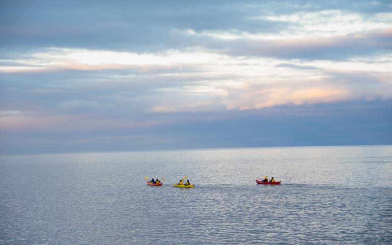 Kayakers on Lake Superior