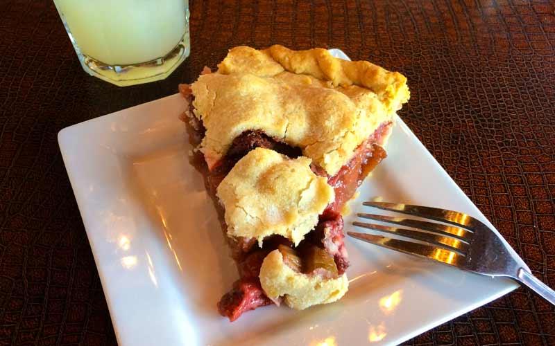 Strawberry Rhubarb Pie at Rustic Inn Cafe