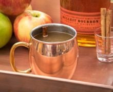 Hot Apple Cider with Bourbon
