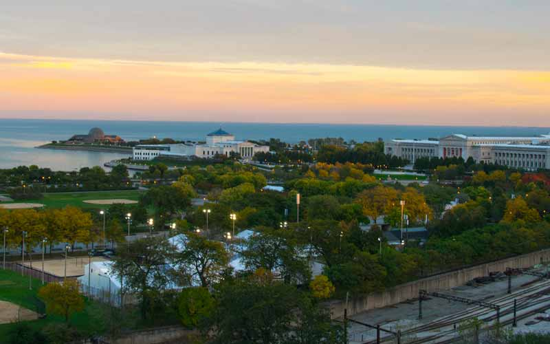 Evening over Grant Park