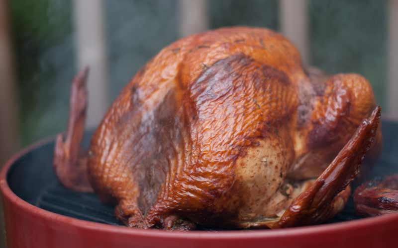 All hail the smoked turkey! It's delicious and smokey!