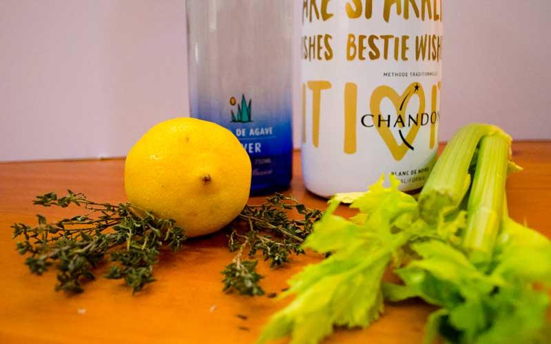 Celery-Thyme Tequila Sparkler