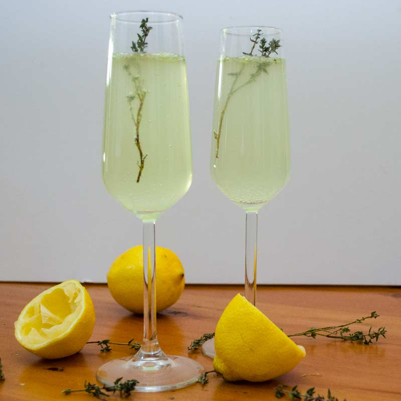 Celery-Thyme Tequila Sparkler
