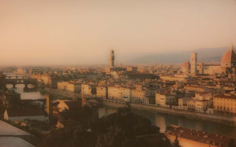 I navigated the tunnel-like streets of Florence to my apartment on a curvy hill across the river.