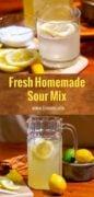 Sour Mix recipe Pinterest