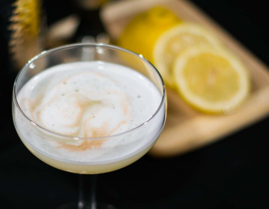 Vodka Sour Froth Top