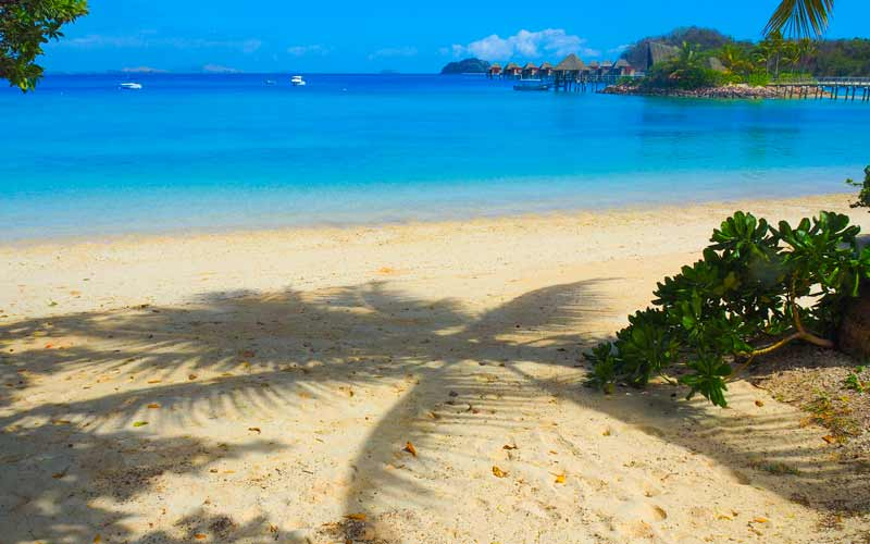 Fiji is known for its white sand beaches