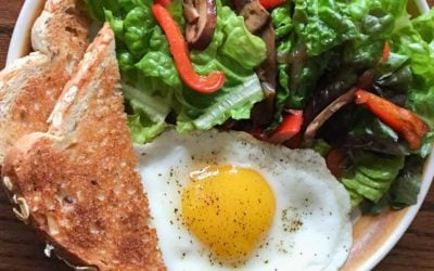 Breakfast Salad with Egg