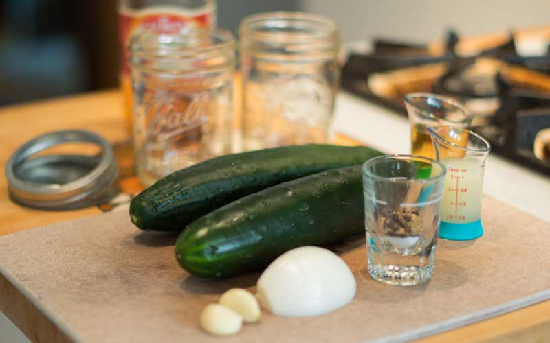 Garlicky Refrigerator Pickles