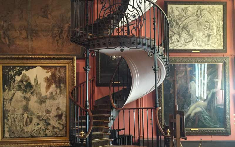 The staircase at the Gustave Moreau museum