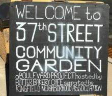Community garden outside of Butter
