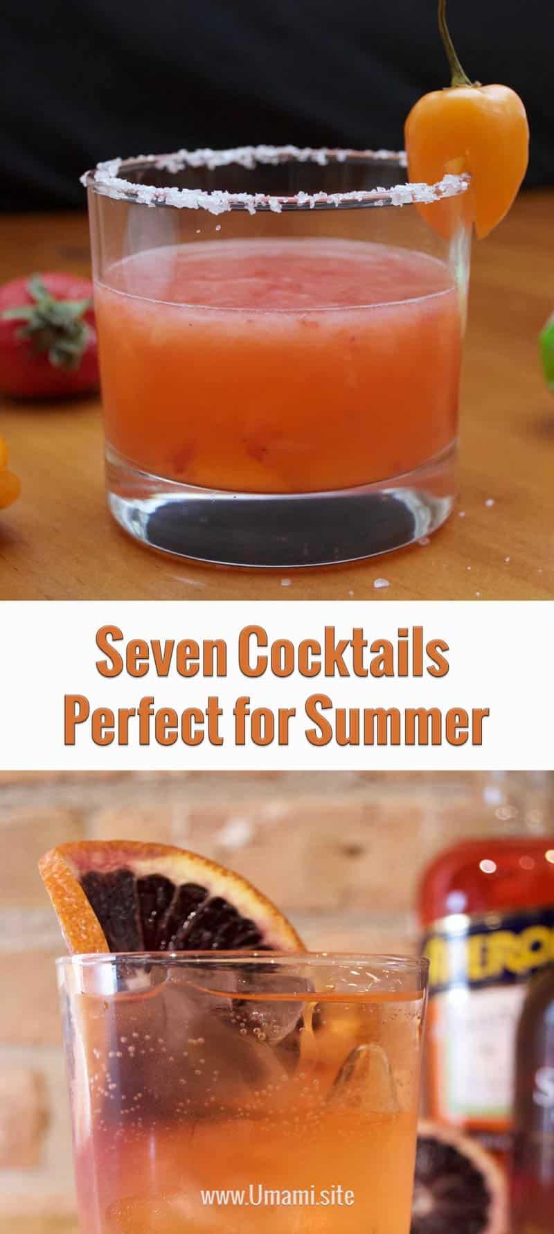 Seven Cocktails For Summer Pinterest
