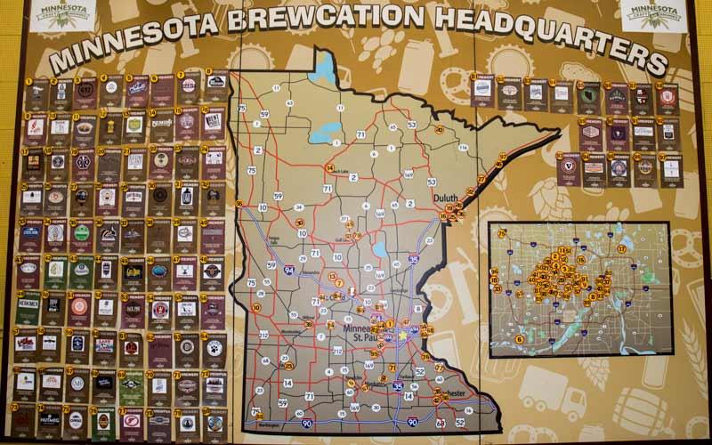 Map of Minnesota Craft Brewers