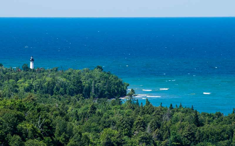 Au Sable Light Station looking out over Lake Superior