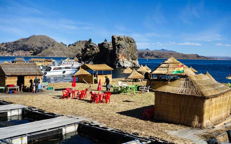 Village along the shores of Lake Titicaca