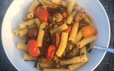Rigatoni with Fennel, Sausage, and Tomato