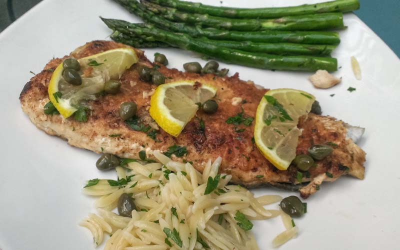 Pan-Fried Trout with Lemon and Capers