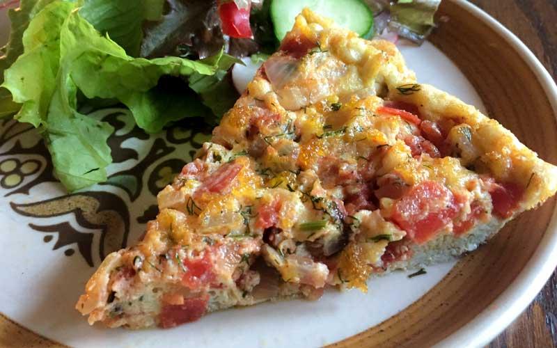 Tomato, Basil, & Chicken Frittata