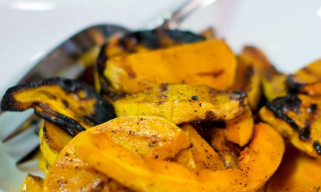 Grilled Butternut Squash with Honey Maple Glaze