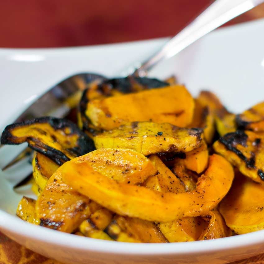 Grilled Butternut Squash with Honey Maple Glaze Recipe